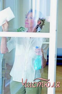 Чем очистить окна ПВХ